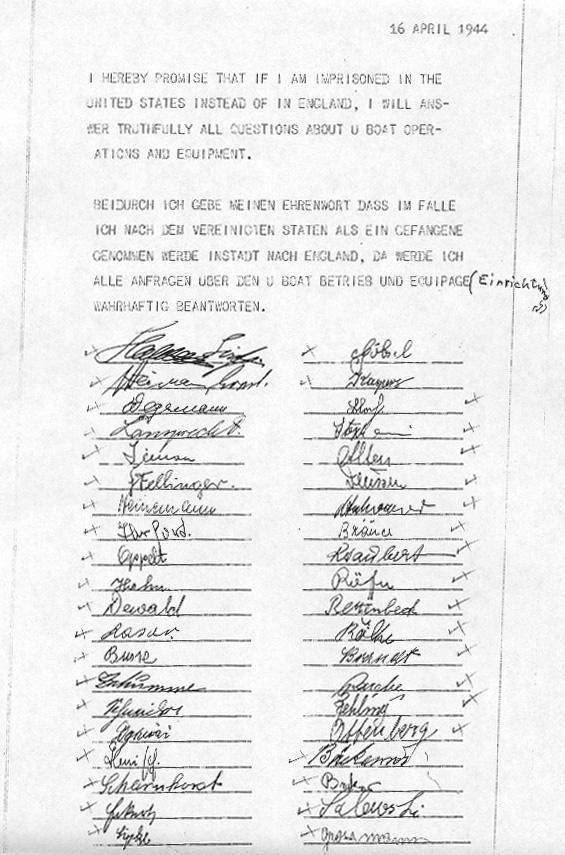 U Boat Archive U 515 Statements